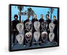 Linkin Park ENCADRÉ Guitar Pick Display limitée à 500