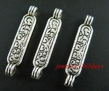 80pcs Tibetan Silver Beautiful Bar Connectors 25x5mm 10252