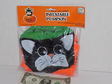 Inflatable Cat Pumpkin Halloween Party Decoration 1990's