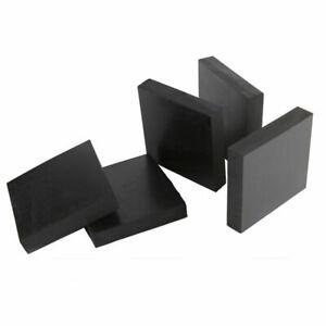 Black Rubber Sheets Pad 50x50mm 100x100mm 200x200mm Thick 10mm 15mm 20mm 30 50mm