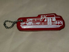 Vintage Nos Floating Key Chain House Boat Water Float Red