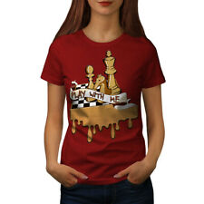 Wellcoda Play Chess With Me Womens T-shirt, Game Casual Design Printed Tee