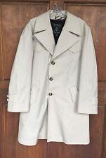 Botany Weathertopper Rain Trench Coat Jacket Beige Mens 40 Reg