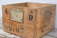Vintage Burdeos francés de Caja de Madera Caja De Pino harina de envío Cafe Tienda Bar