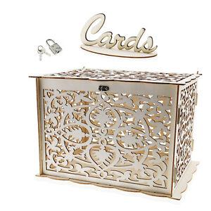 1x Hochzeitskarte aus Holz Hohl Geschenkkarten Geburtstage Schulabschlüsse