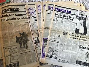 Harwich & Manningtree  Standard Vintage Newspaper X 5 From 1978