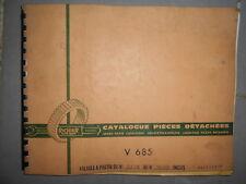 RICHIER rouleau vibrant V 685 - V685 : catalogue de pièces