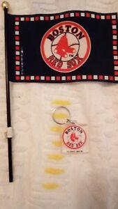 Boston Red Sox Keychain Flag Group Key Chain