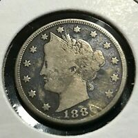 1886 LIBERTY NICKEL IN BETTER GRADE RARE DATE COIN