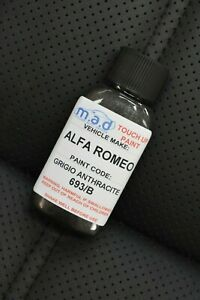 PAINT TOUCH UP KIT FOR ALFA ROMEO GRIGIO ANTHRACITE 693/B 30ML REPAIR SCRATCH