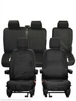 VW Transporter T6 Kombi INKA Tailored Waterproof Seat Covers Black MY16 onwards