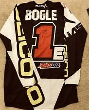 JUSTIN BOGLE GEICO HONDA AUTOGRAPHED RACE JERSEY SUPERCROSS MOTOCROSS OAKLEY