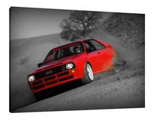 Audi Quattro - 30x20 Inch Canvas - Framed Picture Group B Rally Wall Art
