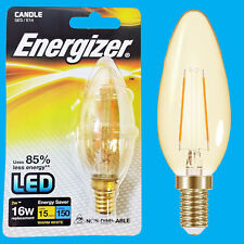 2W LED Filament Candle Ultra Low Energy Instant Start Light Bulb, SES, E14 Lamp