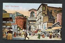 C1910 Illustrated View of Porta Capuana, Naples, Italy.