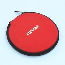Vintage COMPAQ Computer CD Disc Wallet Sleeve Holder in Red