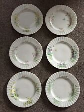 "1987 ROYAL ALBERT WILD FLOWER OF THE MONTH SERIES 8"" PLATE x 6 ~ LQQK"