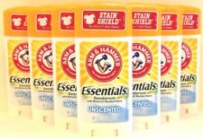 10 Arm & Hammer Essentials Unscented Deodorant Net Wt 2.5 Oz ea NEW!