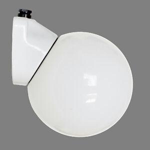 Wandlampe Milchglas Opalglas Kugel Leuchte Porzellansockel Flur Bad Loft vintage
