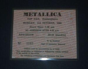 Metallica-Top Hat,Dunlaoghaire,Dublin,Ireland 3rd Oct 1988, Repro Concert Ticket