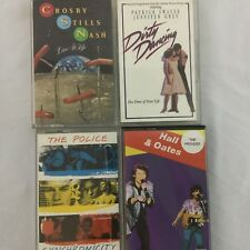 Lot 4 Pop 1980's Cassette Tapes Hall and Oates The Police Dirty Dancing