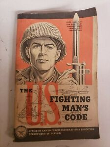 THE U.S. FIGHTING MAN'S CODE  1955  BOOK FOR POW PRISONERS CONDUCT ETC