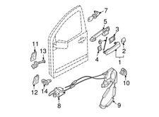 H0601-EA025 Nissan Cylinder set-door lock,lh H0601EA025, New Genuine OEM Part