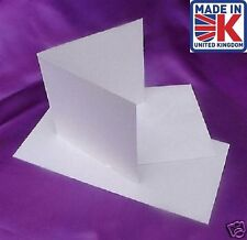 "50 6"" x 6"" SQUARE WHITE 250gsm CARD BLANKS+ENVELOPES"
