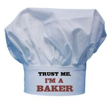 CoolChefHats Trust Me I'm A Baker Pastry Chef Hats, Funny White Cooking Toques