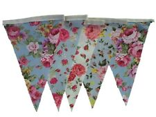 Bunting 20ft Vintage English Floral Shabby Chic Single Sided Wedding Easter