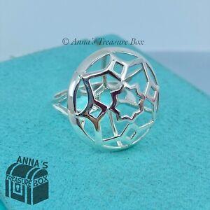 Tiffany & Co. 925 Silver Open Marrakesh Zellige Ring Sz. 8.5 + Receipt (pouch)