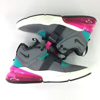 Nike Air Force 270 GS Big Kids SZ 6.5Y Shoes Cool Grey Hyper Jade Anthracite NEW