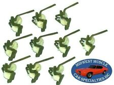 GM NOS Fender Door Quarter Body Side Moulding Molding Trim Clip Fasteners 10pc G