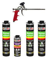 SET Pistolenschaum 3 x 750 ml + 1  Metall Schaumpistole + 1 Reiniger Bauschaum