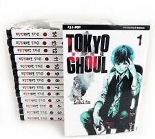 manga - TOKYO GHOUL N.1-2-3-4-5-6-7-8-9-10-11-12-13-14 serie COMPLETA  j-pop
