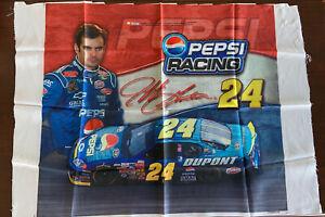 Jeff Gordon Signed Promo Fabric Banner 38x28 Pepsi #24 NASCAR