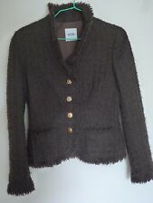 VESTE/BLAZER LAINE MARRON MOSCHINO CHEAP AND CHIC TAILLE 38FR
