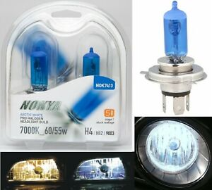 Nokya 7000K White 9003 HB2 H4 Nok7413 60/55W Two Bulbs Head Light Dual Beam Lamp