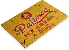 TIN SIGN B740 Strawberry Ice Cream Gum Chewing Gum Retro Candy Metal Decor