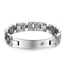 Titanium Power Healing Crystal Magnetic Bracelet  Wristband Balance Energy Body