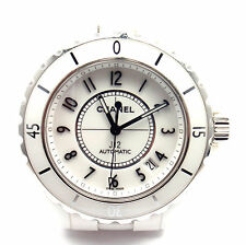 Authentic! Chanel J12 White Ceramic Steel Automatic 38mm Watch Ref. H0970