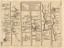 Bristol Dursley Gloucester Tewkesbury Kempsey Worcester. KITCHIN road map 1767