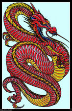 CHINESE NEW YEAR RED DRAGON COSTUME TRIBAL TEMPORARY TATTOO~SHOULDER ARM BACK