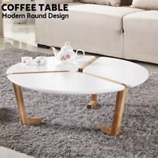 Hard Solid Wood Coffee Table Modern Living Room Furniture Tea Round Artiss
