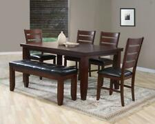 Crown Mark D2152 Bardstown Traditional Rectangular Dining Room Set 7 Pcs