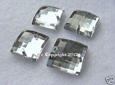 Strass zum aufnähen Aufnähsteine Quadrat ca. 10 mm Crystal faccetiert