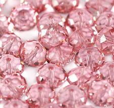 10x Swarovski Crystal Briolette Bead 5040 Light Rose Rondelle 8mm GREAT VALUE!