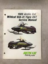 1989 Arctic Cat Snowmobile Service Manual Wild Cat 650 El Tigre Ext