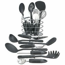 Kitchen Gadgets And Tools With Caddy Holder Cooking Utensil Set Black 17 Pc Best