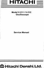 Hitachi V-211 V-212 Oscilloscope Service & Operation Manuals * CDROM * PDF